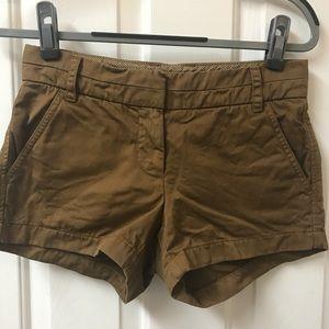 "J Crew 3"" Chino shorts-size 00"